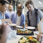 What are the benefits of offering free food at work?