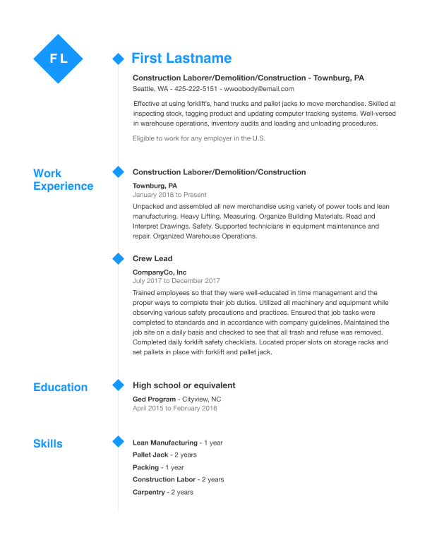 Free Professional Resume Templates Indeedcom
