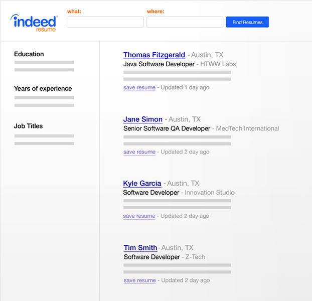 create your resume on indeed
